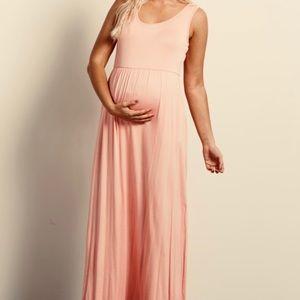 Pinkblush Sleeveless Maternity Maxi Dress